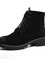 cheap -Women's Shoes Fleece Winter Fall Combat Boots Light Soles Boots Low Heel Round Toe Booties/Ankle Boots For Casual Brown Black