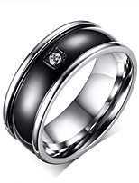 Men's Simple Stainless Steel Circle Jewelry For Wedding Party