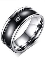 Bijoux cercle simple en acier inoxydable des hommes pour la fête de mariage