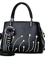 economico -Donna Sacchetti PU (Poliuretano) Tote Set di borsa da 4 pezzi Cerniera per Shopping Casual Tutte le stagioni Blu scuro Grigio Viola Vino