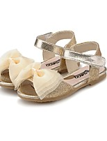 cheap -Girls' Shoes Leatherette Summer Comfort Light Soles Sandals Bowknot Sparkling Glitter for Casual Dress Gold Blue