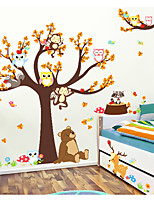 Animals Animal Fashion Wall Stickers 3D Wall Stickers Decorative Wall Stickers,Paper Material Home Decoration Wall Decal
