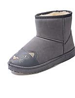 Недорогие -Для женщин Обувь Полиуретан Зима Удобная обувь Зимние сапоги Ботинки Круглый носок Сапоги до середины икры Назначение Повседневные Черный