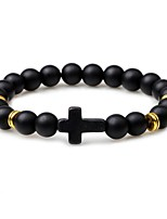cheap -Men's Strand Bracelet Onyx Turquoise Classic Fashion Agate Turquoise Circle Cross Jewelry For Daily Going out