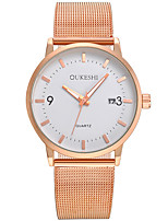cheap -Men's Women's Fashion Watch Casual Watch Quartz Alloy Band Rose Gold