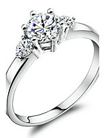 Women's Cubic Zirconia Simple Gold Plated Circle Jewelry For Wedding Engagement