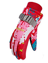 cheap -Winter Gloves Ski Gloves Kid's Full-finger Gloves Keep Warm Windproof Wearable Breathable Skiing Water proof material Waterproof Fabric