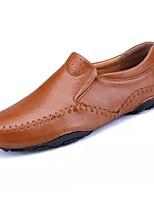 Homme Chaussures Cuir Printemps Automne Confort Mocassins et Chaussons+D6148 Pour Décontracté Noir Marron