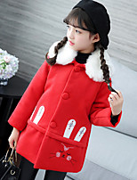 Girls' Solid Trench Coat Red Blushing Pink