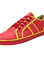 Недорогие -Для мужчин обувь Искусственное волокно Весна Осень Удобная обувь Кеды Ноль Ноль / Назначение Повседневные Белый Черный Красный