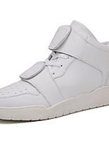 baratos -Masculino sapatos Couro Ecológico Primavera Outono Conforto Tênis Para Casual Branco Preto Vermelho
