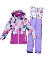 Phibee Boys' Ski Jacket with Pants Warm Ski / Snowboard Cotton Nylon