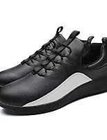cheap -Men's Shoes PU Spring Fall Light Soles Sneakers For Casual Black White