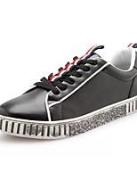 Недорогие -Для мужчин обувь Полиуретан Весна Осень Удобная обувь Кеды Назначение Повседневные Белый Черный