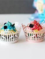 50pcs/lot Birdcage Design Laser Cut Cupcake Wrappers Cup Paper For Wedding Party Birthday Baby Shower Tea Party Decoration.