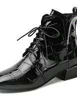abordables -Mujer Zapatos PU Otoño Botas de Combate Botas Dedo redondo Mitad de Gemelo Para Casual Negro