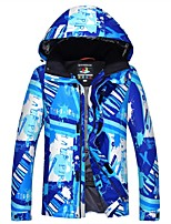 cheap -Ski Jacket Men's Camping / Hiking Ski/Snowboarding Snowboarding Back Country Warm Waterproof Thermal / Warm Windproof Skiing Polyester