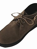 abordables -Mujer Zapatos Goma Invierno Botas de Combate Botas Dedo redondo Para Negro Caqui