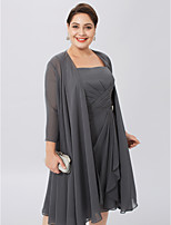cheap -3/4 Length Sleeves Chiffon Wedding Party / Evening Women's Wrap Coats / Jackets