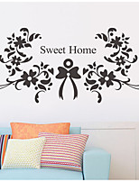 Floral/Botanical Wall Stickers Plane Wall Stickers Decorative Wall Stickers,Vinyl Material Home Decoration Wall Decal