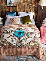 cheap -Coral fleece,Reactive Print Floral Acrylic Fibres Blankets