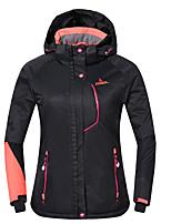 Phibee Skijacke Damen Skifahren Warm Wasserdicht Windundurchlässig tragbar Atmungsaktivität Anti-Statisch Polyester Jacke