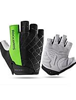 Спортивные перчатки Перчатки для велосипедистов Дышащий Защита от солнечных лучей Без пальцев Сетка Велосипедный спорт / Велоспорт