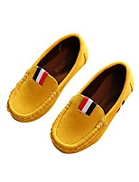 cheap -Boys' Shoes Leatherette Spring Fall Comfort Loafers & Slip-Ons Applique for Wedding Casual Yellow Brown Army Green Wine