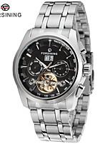 FORSINING Men's Fashion Watch Dress Watch Wrist watch Automatic self-winding Calendar Stainless Steel Band Vintage Silver