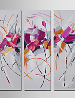 Hand-Painted Abstract Square,Modern Three Panels Canvas Oil Painting For Home Decoration