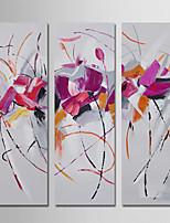 Peint à la main Abstrait Moderne Trois Panneaux Toile Peinture à l'huile Hang-peint For Décoration d'intérieur