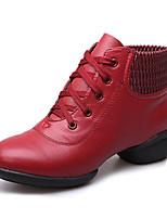 economico -Da donna Sneakers da danza moderna Finta pelle Sneaker Professionale Basso Nero Rosso