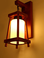 cheap -Wall Light Ambient Light Wall Sconces 40W 220V E27 Country Modern/Contemporary Wood