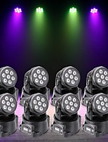 U'King 8pcs LED Stage Light / Spot Light DMX 512 Master-Slave Sound-Activated Auto 70 for Outdoor Party Stage Wedding Club Professional