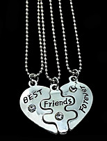 Women's Pendant Necklaces Heart Alloy Friendship Jewelry For Gift Daily