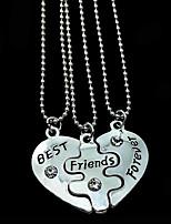 женские подвесные ожерелья сердца сплав дружбы ювелирные изделия для подарков ежедневно