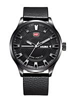 Men's Casual Watch Fashion Watch Dress Watch Quartz Genuine Leather Band Casual Elegant Cool