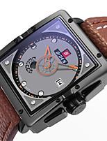 Недорогие -Муж. Повседневные часы Модные часы Наручные часы Японский Кварцевый Календарь Повседневные часы Кожа Группа На каждый день Elegant Черный