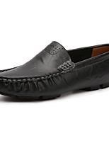 Homme Chaussures Polyuréthane Printemps Automne Confort Mocassins et Chaussons+D6148 Pour Noir Marron Bleu