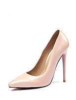Women's Shoes PU Spring Fall Comfort Heels Stiletto Heel Pointed Toe For Wedding Party & Evening Almond Blushing Pink Red Black
