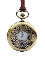 cheap -Women's Pocket Watch Chinese Quartz Large Dial Leather Band Vintage Cool Brown