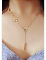 Women's Pendant Necklaces Geometric Rose Gold Steel European Korean Jewelry For Wedding Daily