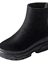 cheap -Women's Shoes PU Spring Winter Comfort Boots For Outdoor Black