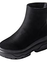 Недорогие -Для женщин Обувь Полиуретан Зима Весна Удобная обувь Ботинки Назначение Черный