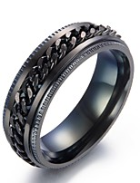 cheap -Men's Band Rings Metallic Stainless Circle Jewelry For Daily Going out