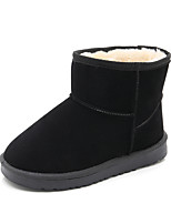 cheap -Girls' Shoes PU Winter Comfort Snow Boots Boots Mid-Calf Boots Stitching Lace Zipper For Casual Outdoor Dark Brown Pink Black