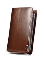 preiswerte -Herren Taschen PU Unterarmtasche Reißverschluss für Einkauf Normal Alle Jahreszeiten Schwarz Braun Khaki