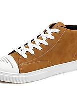 Недорогие -Для мужчин обувь Кашемир Весна Осень Удобная обувь Кеды Назначение Повседневные Черный Серый Желтый