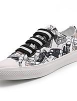 Недорогие -Для мужчин обувь Полотно Весна Осень Светодиодные подошвы Кеды Животные принты Назначение Повседневные Черно-белый
