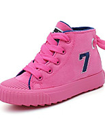 cheap -Girls' Shoes Canvas Winter Fall Comfort Sneakers Walking Shoes Booties/Ankle Boots Lace-up For Casual Pink Blue